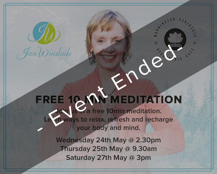 Free 10 Minute Meditation<br>with Jan Winslade