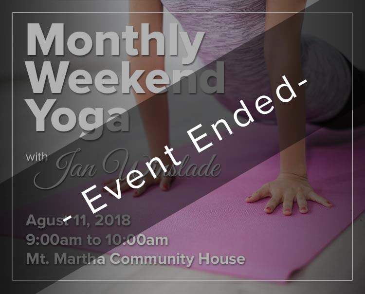 Monthly Weekend Yoga with Jan Winslade